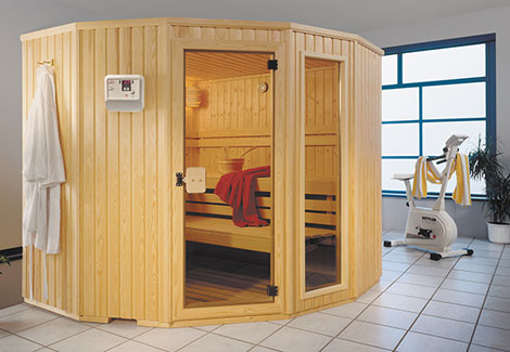 Sauna für Ecklösungen