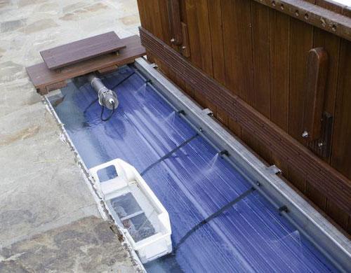 Reinigungssystem für Schwimmbad-Abdeckungen