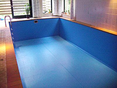 Folienbecken mit Schwimmbadfolie ausgekleidet